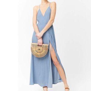 NWT forever 21 wrap polka dot maxi dress size M